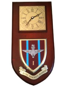 1 bn Parachute Regiment Military Wall Plaque Clock